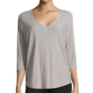 James Perse Cotton Scoop Neck Tee, Size XL